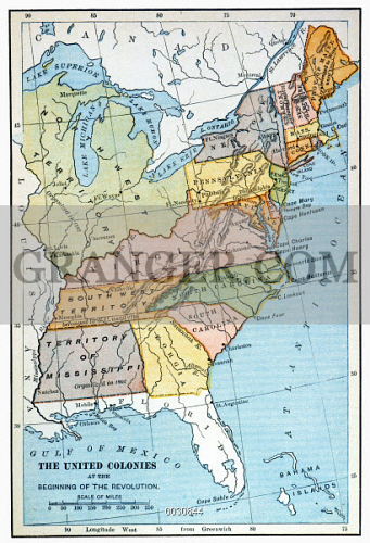 Image of UNITED STATES MAP, C1791. - Map Of The United States As It ...