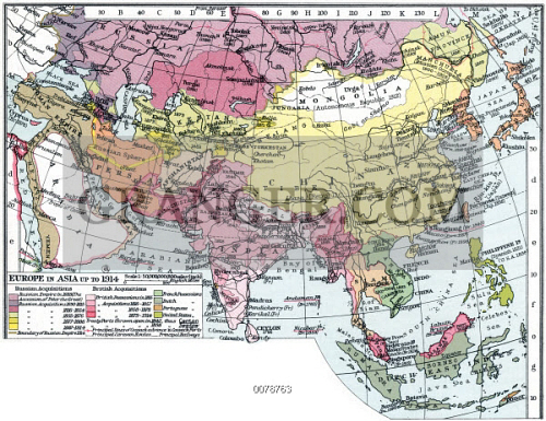 Map Of Asia 1914.Image Of Map Europe In Asia Map Of Asia English C1935