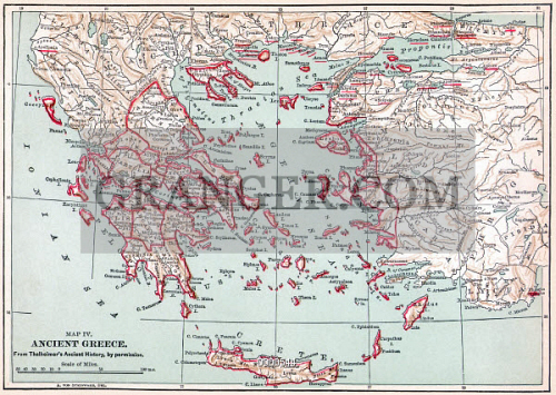 MAP: ANCIENT GREECE. 