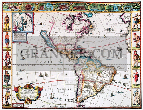 NEW WORLD MAP, 1616. 