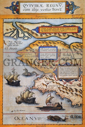 BERING STRAIT MAP, 1593. 