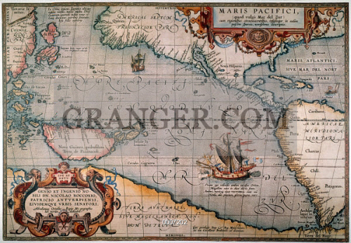 PACIFIC OCEAN MAP, 1589.