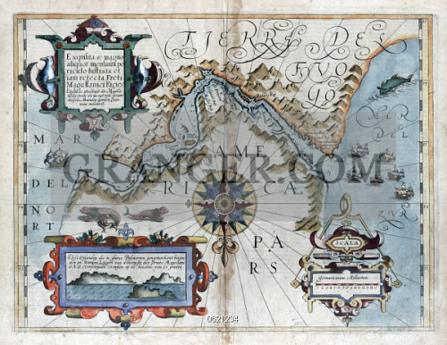 Tip Of South America Map.Image Of Map Strait Of Magellan 1611 An Early Depiction Of The