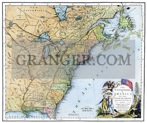 Image of U.S. MAP, 1783. - The First Specially Engraved Map Of The ...