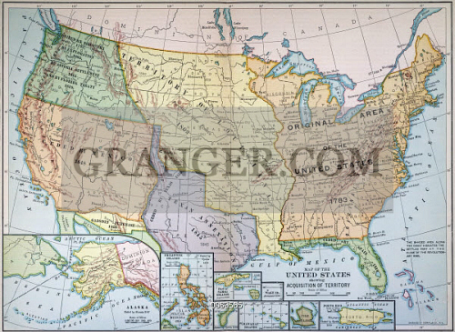 Image Of MAP US EXPANSION Map Of The United States - Us map 1905