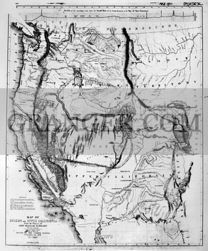 Image Of Map Western U S 1848 Map Of The Western United States