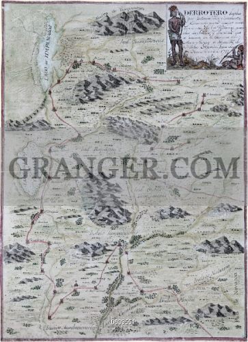Image of MAP: SOUTHWEST, 1777. - Map Showing Territory ...