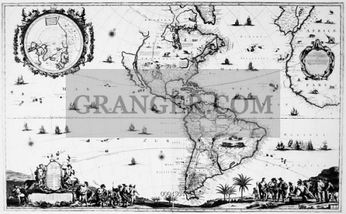 NEW WORLD MAP, c1650. 