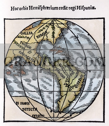 The Western Hemisphere In The World Map By Franciscus Monachus,