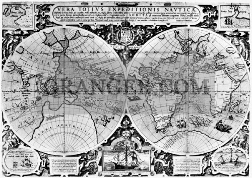 Image of world map 16th century map engraved by jodocus hondius world map 16th century map engraved by jodocus hondius perhaps at london gumiabroncs Choice Image