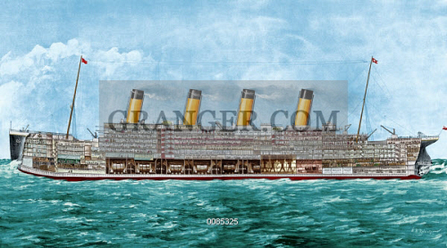 THE TITANIC, 1912. 