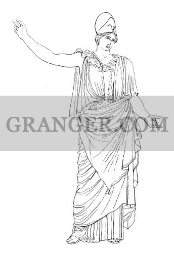 Image Of Athena Minerva Greek And Roman Goddess Of Wisdom