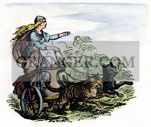 Image Of Norse Goddess Frigg Frigg Freya In Norse