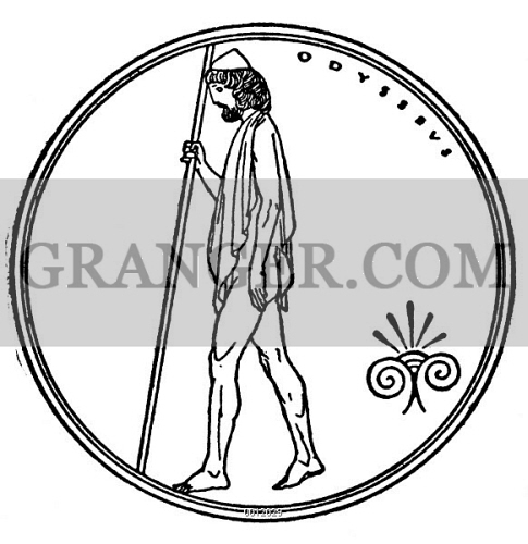 Image of homer the odyssey odysseus drawing c1918 for Odysseus coloring pages