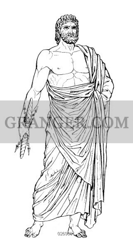 Line Drawing Of Zeus : Image of zeus jupiter greek and roman supreme ruler