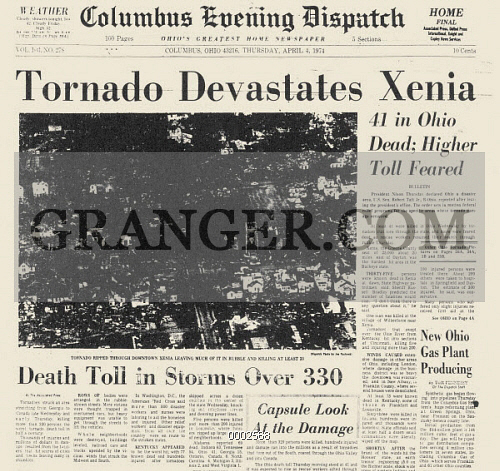 OHIO: TORNADO, 1974. 