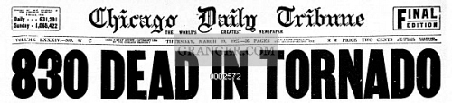 TRI-STATE TORNADO, 1925. 