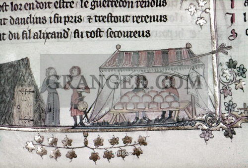 Image Of Bakers 14th Century Bakers Selling Their Bread In A