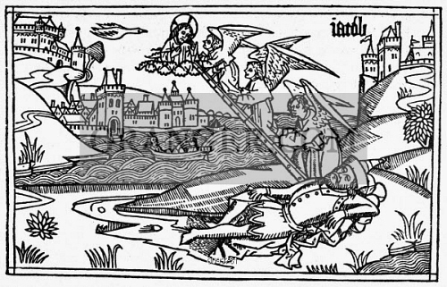 JACOBS DREAM Genesis 28 10 22 Woodcut From The Cologne