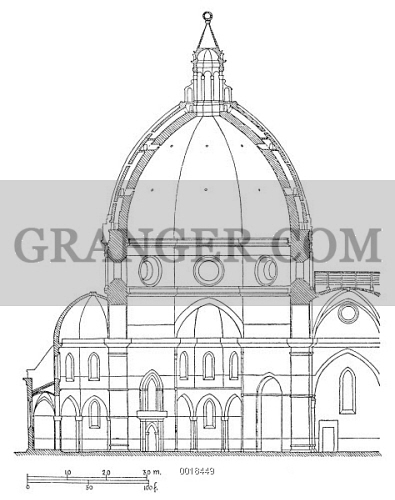 BRUNELLESCHI DOME PLAN Modern Diagram Of The Cross Section Filippo Brunelleschis Dome For