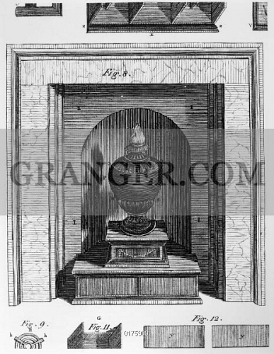 Image of FRANKLIN: STOVE. - Diagram Of A Stove Invented By Benjamin on cabinet diagram, sewing machine diagram, bifocal glasses diagram, heart diagram, benjamin franklin diagram, lightning rod diagram, radiator diagram, safety tank diagram, pay it forward diagram, fireplace diagram, oven diagram, aga cooker diagram, watt steam engine diagram, furnace diagram, franklin fireplace, glass armonica diagram, wheelbarrow diagram, refrigerator diagram, framing diagram, piano diagram,