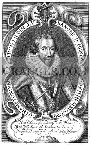 Image of HENRY WRIOTHESLEY - (1573-1624)  3rd Earl Of Southampton