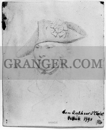 Image Of Arthur St Clair 1736 1818 American Soldier Pencil