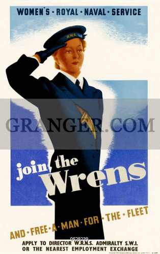 Image of POSTER: WRENS, C1942  - British Poster Encouraging Women To