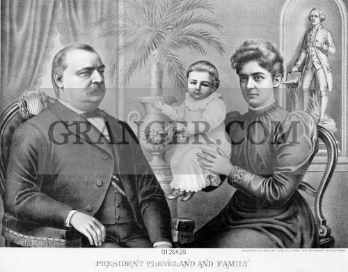 Image Of Cleveland Family C1893 American President