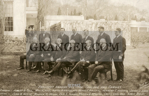Image of WARREN HARDING CABINET. - President Warren Harding And ...