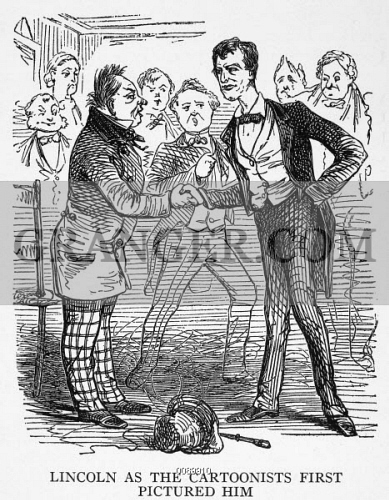 Image Of Lincoln Cartoon 1860 Presidential Nominee Abraham