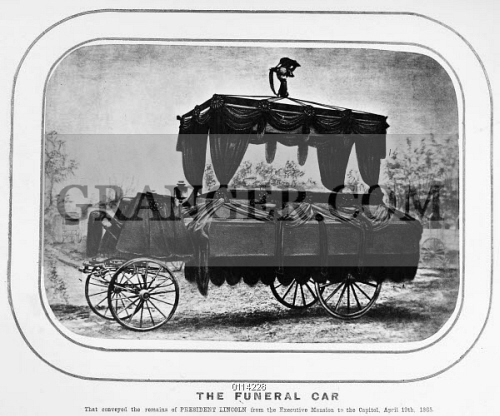 Image Of Lincoln Funeral 1865 The Funeral Carriage That Carried