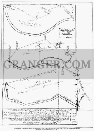 Image Of WASHINGTON MAP Map Drawn By American President - Map of us when george washington was president