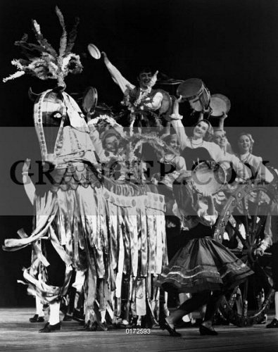 Image of RUSSIAN FOLK DANCE, C1970  - Russian Folk Dancers