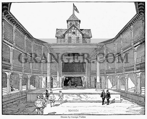 Drawing Reconstruction Of The Second Globe Theater From