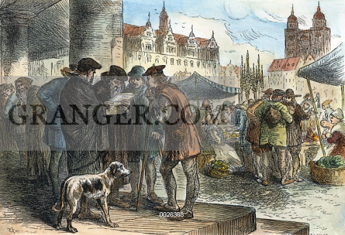 WITTENBERG LUTHER THESES. Residents of Wittenberg Germany discussing the 95 theses Martin & Image of WITTENBERG: LUTHER THESES. - Residents Of Wittenberg ...