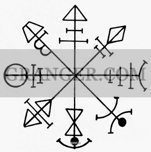 Image Of Pentacle Of Venus Magical Talisman Used To Control The