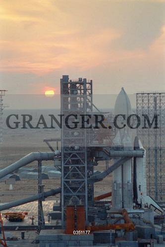 Image of BAIKONUR COSMODROME  - Baikonur Cosmodrome Launch Pad In