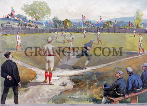 BASEBALL GAME, c1887. 