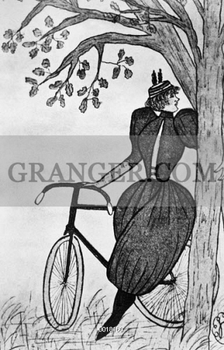 GIBSON GIRL: BICYCLE. 