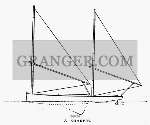Image of YACHTS: SHARPIE, 1882  - Line Engraving, American