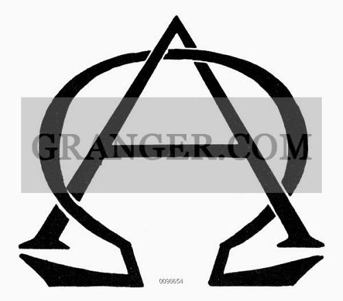 Image of SYMBOL BEGINNING & END Greek Letters Alpha And Omega