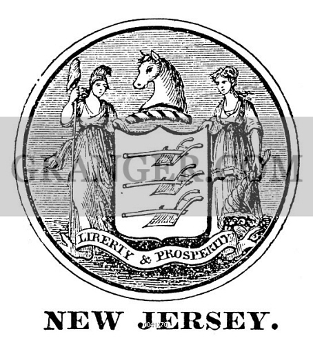 Image Of New Jersey State Seal The Seal Of New Jersey One Of The Original Thirteen States At The Time Of The American Revolution From Granger Historical Picture Archive