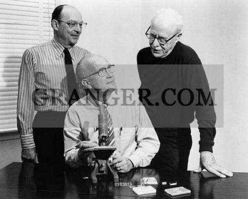 Image of TRANSISTOR INVENTORS, 1972  - Left To Right: John Bardeen