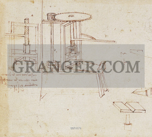 Awe Inspiring Image Of Leonardo Printing Press Leonardo Da Vincis Diagram Of Wiring Digital Resources Attrlexorcompassionincorg