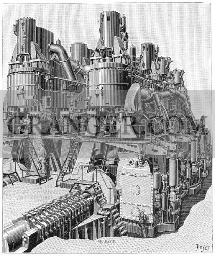 Image of STEAM ENGINE, 1893  - The Steam Engine Used In The