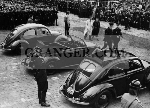 Image of VOLKSWAGEN FACTORY, 1938. - Presentation Of Three Different KdF-Wagens At The ...