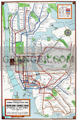 1940 Nyc Subway Map.Image Of New York Subway Map 1940 Map Of The Subway System Of