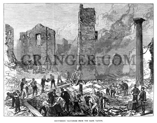 Image Of Chicago Fire 1871 Men Recovering Valuables From The