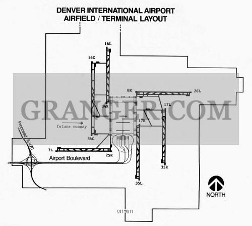 Denver Airport Layout Ndiagram C1995 Showing The Layout Of Wiring Diagram